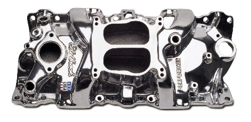Edelbrock Performer Intake Manifold - Chevy Small Block, Polished