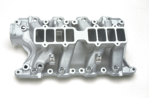 Edelbrock Victor Ford 5 8 Intake Manifold - Ford 351W, Satin (Base Only)