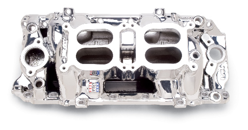 Edelbrock RPM Air-Gap Dual Quad Intake Manifold - Chevy Big Block, Polished
