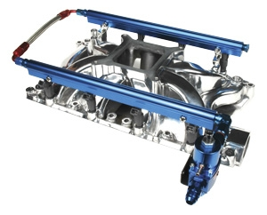 Professional Products Fuel Rails (complete Kit) - Blue Anodized